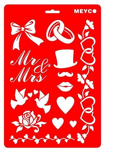 Schablone 'Hochzeit' Meyco