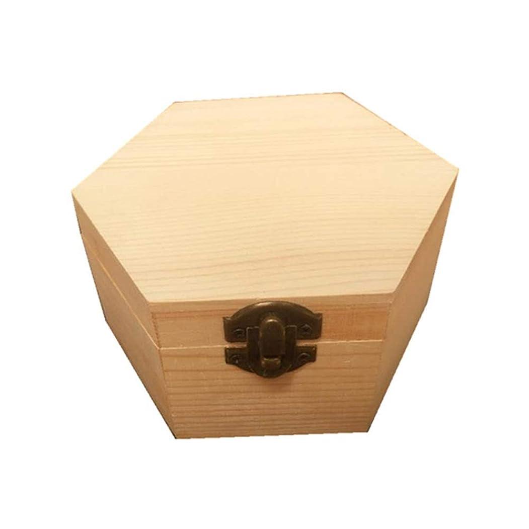 いわゆる稚魚貪欲手作りの木製ギフトボックスパーフェクトエッセンシャルオイルケースにエッセンシャルオイル 香水フレグランス (色 : Natural, サイズ : 13X11.3X6.8CM)
