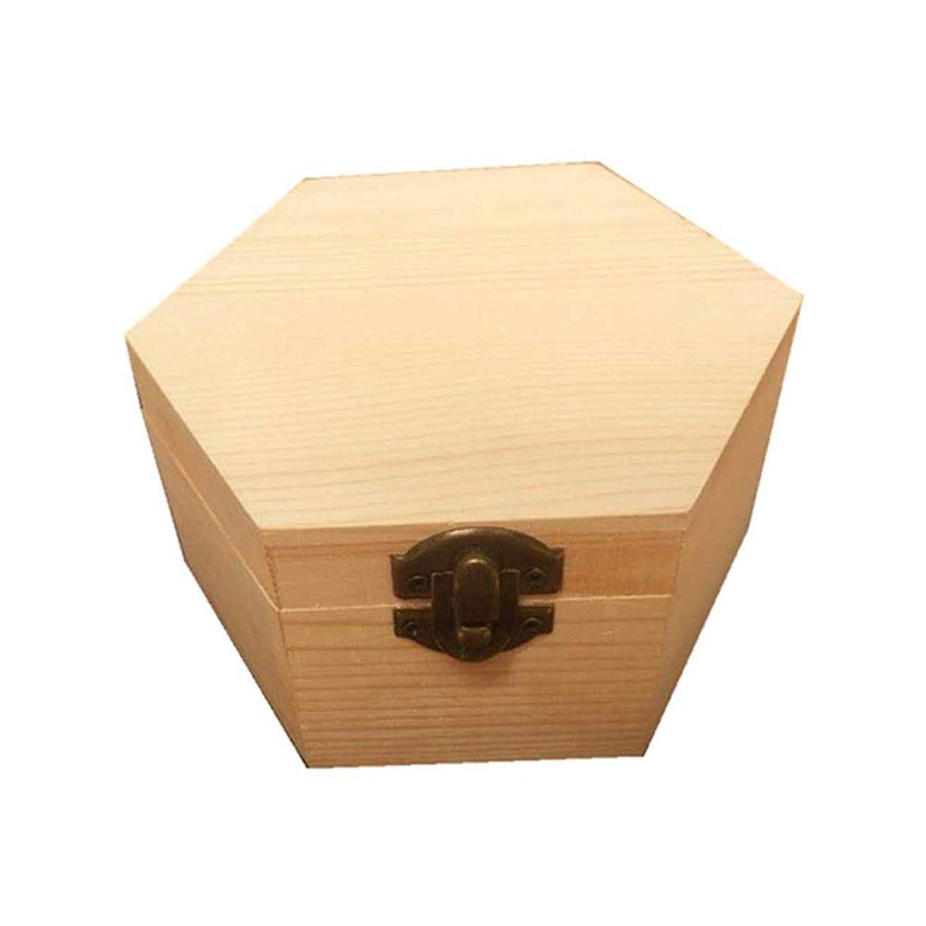 計算波紋教手作りの木製ギフトボックスパーフェクトエッセンシャルオイルケースにエッセンシャルオイル 香水フレグランス (色 : Natural, サイズ : 13X11.3X6.8CM)