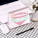 2018-2019 Carino Cartoon Sumikko Gurashi Whale Standing Desk Calendar Desktop to Do List Agenda Giornaliero Libro Cancelleria Giapponese 4