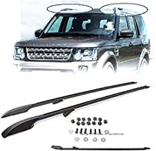 Compatible with Land Rover Discovery 05 06 07 08 09 10 11 12 13 14 15 16 LR3 LR4 Replacement for Long Version Rail Roof Rack Aluminum Black 2005 2006 2007 2008 2009 2010 2011 2012 2013 2014 2015 2016