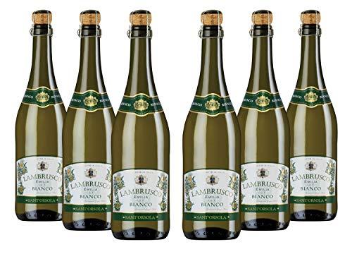 Sant Orsola Lambrusco Emilia Igt Bianco Frizzante - Pacco da 6 x 750 ml