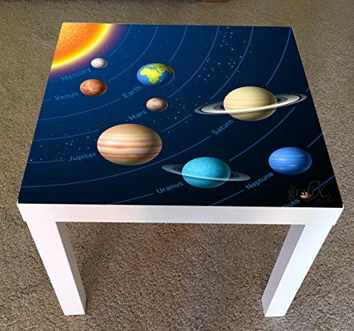 Adhesivo de vinilo con diseño de planetas para ikea lack mesa de café lk17