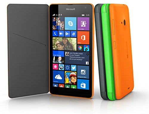 Nokia Custodia Flip Shell per Lumia 535, Arancione