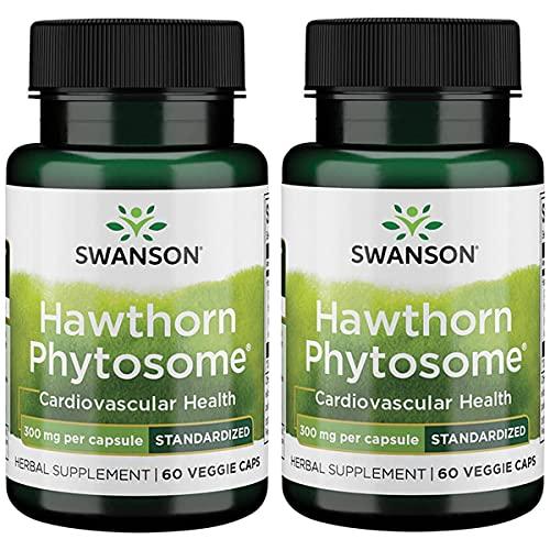 Swanson Standardized Hawthorn Phytosome 300 mg 60 Veg Caps 2 Pack