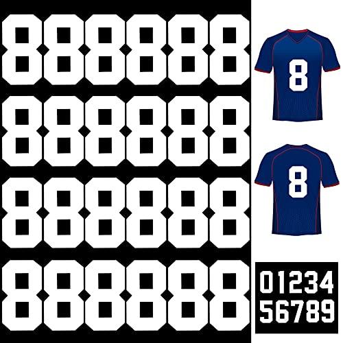25 Piezas Números Planchados Números de Transferencia de Calor Letras Planchadas de 8 Pulgadas para Uniforme de Equipo Camiseta Deportiva Fútbol Baloncesto Béisbol (Blanco 8)