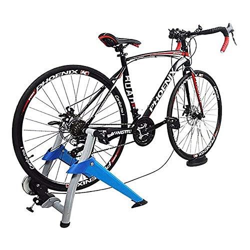 FUJGYLGL Entrenador de Bicicleta Plegable Soporte de Bicicleta magnética Entrenamiento de Ejercicio Interior, 7 Niveles Tendero de Ciclismo de Resistencia magnética