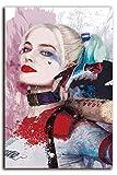 Pintura al óleo abstracta moderna de Harley Quinn para decoración del hogar, decoración de pared, lona, Sin marco., 18'x24'