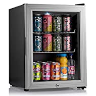 SUBCOLD TEMPERATURE PERFORMANCE - Premium Table-Top Drinks Fridge with Advanced Compressor Cooling Technology Built-in with Subcold Temperature Range of 3-18°C [Adjustable Thermostat] Suitable for Wine Bottles, Beer Cans, Soft Drinks, Milk, Water, Sn...