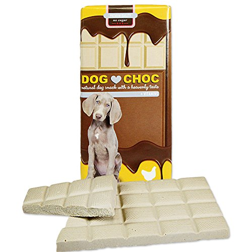 Dog Choc Hundeschokolade mit Huhn 9 x 100g Zartschmelzende Schokolade mit speziellen Rezepturen nur für Hunde