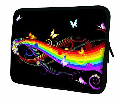 Ektor Hülle/Sleeve/Tasche für 25,4-44,7 cm (10-17,6 Zoll) Laptops/Notebooks, in unterschiedlichen Mustern und Größen erhältlich (Teil 2 von 3) Butterflies & Rainbows 17