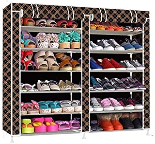 Storia Shoe Racks for Home Shoe Rack with Cover 12 Layer Multipurpose Shoe Stand for Shoe Storage Organizer Cabinet