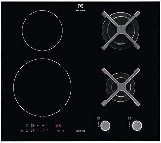 Electrolux - kgi6211k - Table de cuisson mixte 59cm 4 feux noir série 300