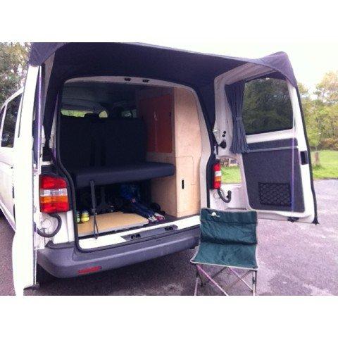 Kiravans, Torblenden-Markise (T5), für VW T5und VW T6,für europäische und britische Transporter ohne Spoiler