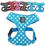 LSW Pet Design No Pull Small Dog Pet Harness Breathable Dotty Cotton Design and Sizes Black Small