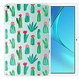 ZhuoFan Funda para Huawei Honor V6 10.4, Case Carcasa Silicona Transparente Gel TPU con Dibujos Antigolpes Cover Piel de Protector Ligera Tableta para Huawei Honor V6, Cactus