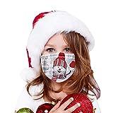 100 Stück Kinder Mund- und Nasenschutz Einwegartikel, Mundschutz mit Schneemannmotiv, Weihnachtsgesichtsmundabdeckung, Schulbandana-Schal(I)