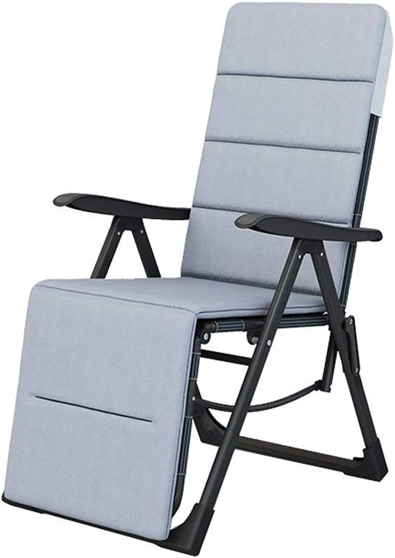 Outdoor Folding Recliner Chair Deck Chair Balcony Garden Beach Patio Portable Travel Folding Chair Camping Chair Rest Chair Pregnant Woman Recliner,B