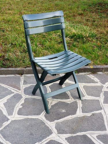 WEBMARKETPOINT Set 4 sedie pieghevoli da esterno in plastica antiurto confezione 4 Pz