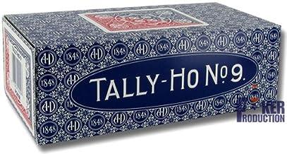Caja de 12 barajas TALLY-HO Fan (US playing cards company) (6 Azules / 6 Rojas)
