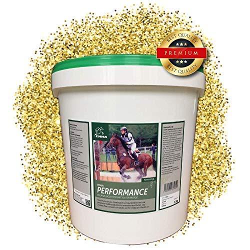 EMMA® Performance Aufbaufutter Sojaschrot I Kalzium Skelett-Aufbau I Muskelaufbau I Vitamin A C E K B1 B2 B6 B12 (B-Komplex) I Biotin Plus Zink und Selen I Energy Booster Senior Pferd 5 Kg