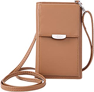 SYZG Ladies Shoulder Bag Small Handbag Purse Mobile Phone Wallet Long Purse PU Leather Purse for Girls and Women