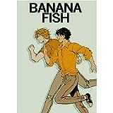 Vinctik 6&Fox New Banana Fish Poster Anime HD Print Art Fabric Poster Art Print Poster for Home Wall Decor, Multi Styles(Type4)