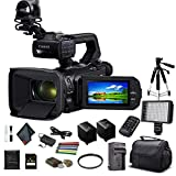 Canon XA50 Professional UHD 4K Camcorder (3669C002) W/Extra Battery, Soft Padded Bag, 64GB Memory Card, LED Light, UV Filter, Tripod and More Starter Bundle (Renewed)