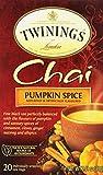 Twinings of London Pumpkin Spice Chai Tea Bags, 20 Count