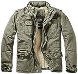 Brandit Britannia Winter Jacke, Grün (Oliv 1), M