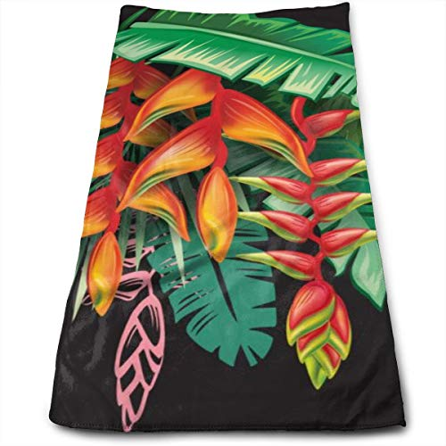 YudoHong Toallas de Mano de Plantas Tropicales y Flores de Heliconia Altamente absorbentes para Manos, Cara, Gimnasio, SPA