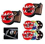 Retro Record Player Car Decor,Car Perfume Air Freshener with Vent Clip in Retro Style Record-Player Design,Automotive Air Freshener Car Air Vent Outlet Diffuser Decor for Car Home Office 2 Pack