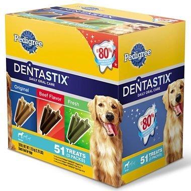 Pedigree Dentastix Variety Pack (51 Treats) 3 Flavors by Dentastix (English Manual)