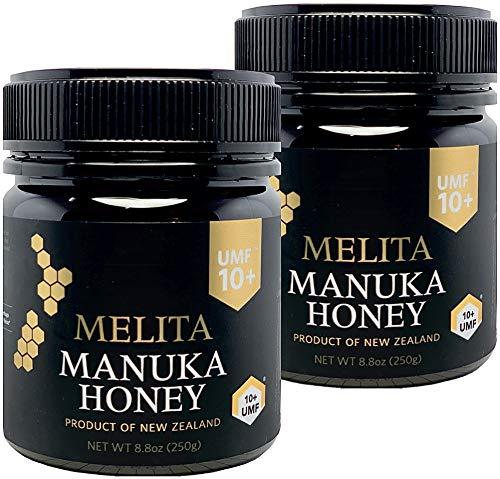 functia(ファンクティア) MELITA マヌカハニー【UMF10+】250g x 2本【お得に2本セット】抗菌活性マヌカハニー(アクティブマヌカ)『抗菌作用格付け UMF10+ = MGO263〜MGO513に相当』Manuka Honey UMF10+ 250g x 2pcs