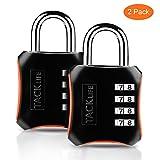 Candado de combinación, TACKLIFE-HCL3B-2 Packs Candado de numeración de 4 dígitos Cerraduras de equipaje Código de seguridad para maleta, gimnasio, taquillas escolares