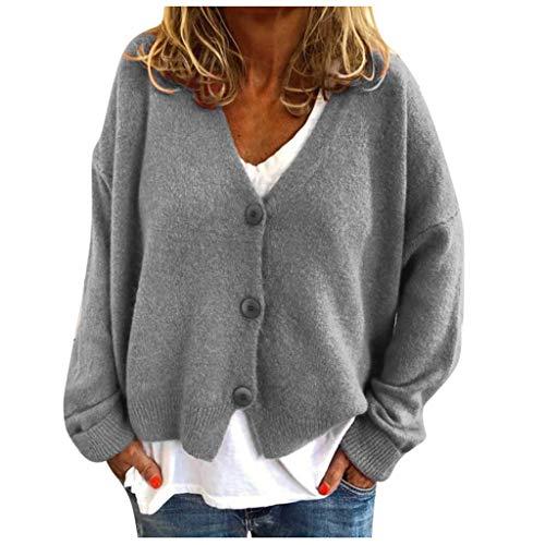 H-fragrance Damen Winterjacke Warm Strickjacke Rollkragen Cardigan Strickpullover Casual Wrap Wickel Pullover Sweater 7 Farbe S/M/L/XL/XXL