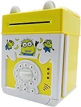 Charhoden Kids Cartoon Electronic Piggy Bank Mini Atm, Yellow