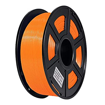 JGAURORA 3D Printer Filament 1.75mm PLA Filament 1kg Spool (Orange)