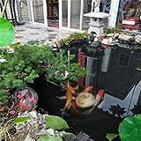 Gzhenh Teichfolie Poolmembran Vorgeschnittene Teichfolienunterlage Benutzt Für Aquakultur Flusshangschutz Undurchlässiger Film Antialterung 0,22 Mm Dick (Color : Black, Size : 1x100m)