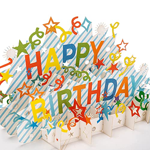 Happy Birthday 3D Birthday Pop Up Greeting Card for Family or Friends