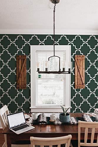 Royal Design Studio Moorish Trellis Wall Stencil for DIY Painting - Designer Wallpaper Look