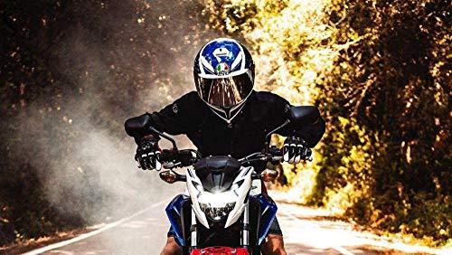 GEZHF Malen nach Anzahl Kits DIY Ölzeichnung LeinwandKunstwerk Gemälde Geschenke Dekorationen (40X50 cm) Rahmenlos - Motorrad Motorradfahrer Fahrradhelm