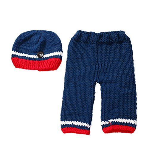 Zhhlinyuan Mode Newborn Baby Boy Girl Crochet Knit Costume Photo Photography Prop Outfit 2173