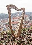 Arpa celta irlandesa con 29 cuerdas de medio tono, incluye funda