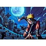 Jqchw Naruto Jigsaw Puzzle 1000 piezas de madera rompecabezas Uzumaki Naruto Jigsaw Puzzle Inicio animado juego de puzzle rompecabezas for adultos descompresión Colección Puzzle regalos educativos for