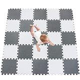 meiqicool Tappeto Puzzle Bambini Gioco, Bianco e Grigio,142 x 142cm,25 Pezzi Bianco-Grigio...