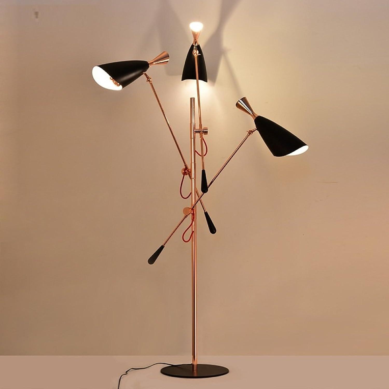 JIA Postmoderne minimalistische Persnlichkeit kreative Kunst Wohnzimmer Studie Villa Stehleuchte High-End-Design Lampen,RoséGold,Einheitsgre