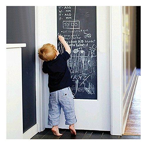 Tableau Noir Autocollant Autoadhésif Tableau Ardoise Mural en Rouleau pour la Maison L'école le Bureau 45cm x 110cm