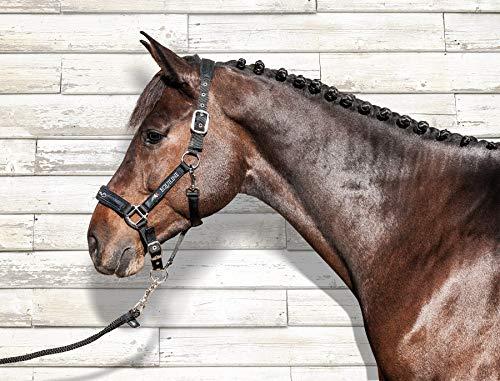 Equiline Halfter und Strick Set Größe Pferdezubehör W, Farbe Pferdezubehör schwarz