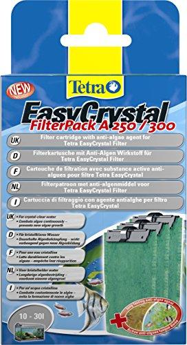 Tetra EasyCrystal A250/300 Cartuccia di filtraggio con agente antialghe per filtro, Per acquari 10 L- 30 L, Confezione da 3 Cartucce